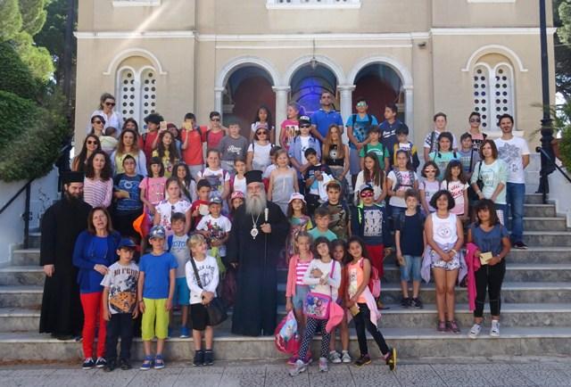 Το Δημοτικό Σχολείο Βαλύρας Μεσσηνίας στον Ποιμενάρχη μας κ. Ευστάθιο