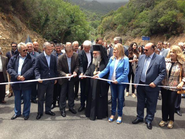 Ο Σεβ. Μητροπολίτης μας τέλεσε τα εγκαίνια της νέας οδού Σπηλαίου Καστανιάς Βοιών