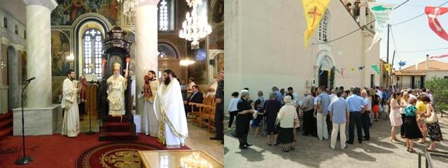 Αρχιερατική Θεία Λειτουργία στη Σελλασία την Κυριακή της Πεντηκοστής