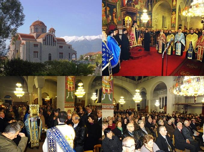 Με εκκλησιαστική μεγαλοπρέπεια εόρτασε ο Ι.Ν Αγίου Νικολάου Σπάρτης