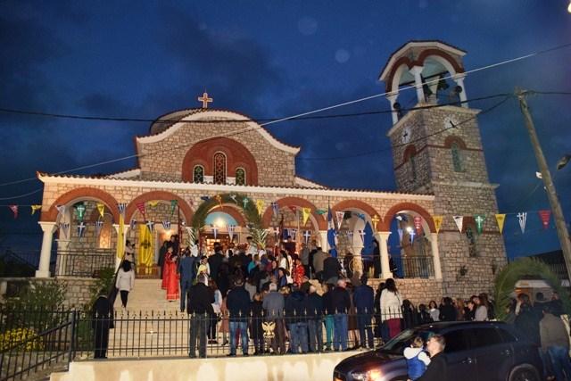 Με λαμπρότητα εορτάστηκαν τα 50 έτη του Ι.Ν Αγίου Γεωργίου Δαφνίου