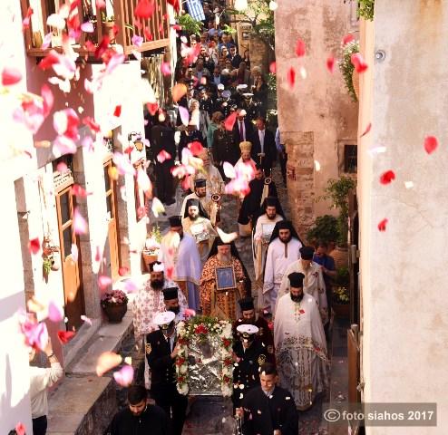 Πάνδημη συμμετοχή στον λαμπρό εορτασμό της Παναγίας Χρυσαφίτισσας στη Μονεμβάσια